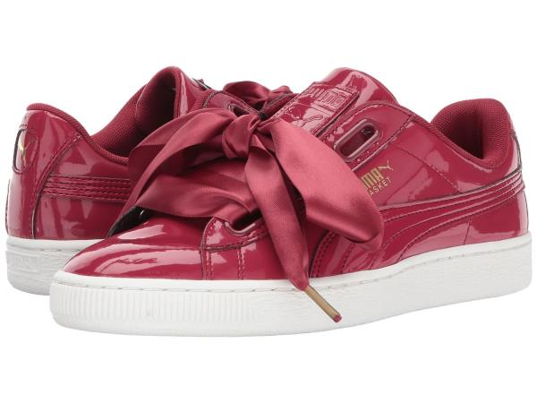 info for 88a4c 26648 Details about [363073-05] Womens Puma Basket Heart Patent - Tibetan Red  Sneaker