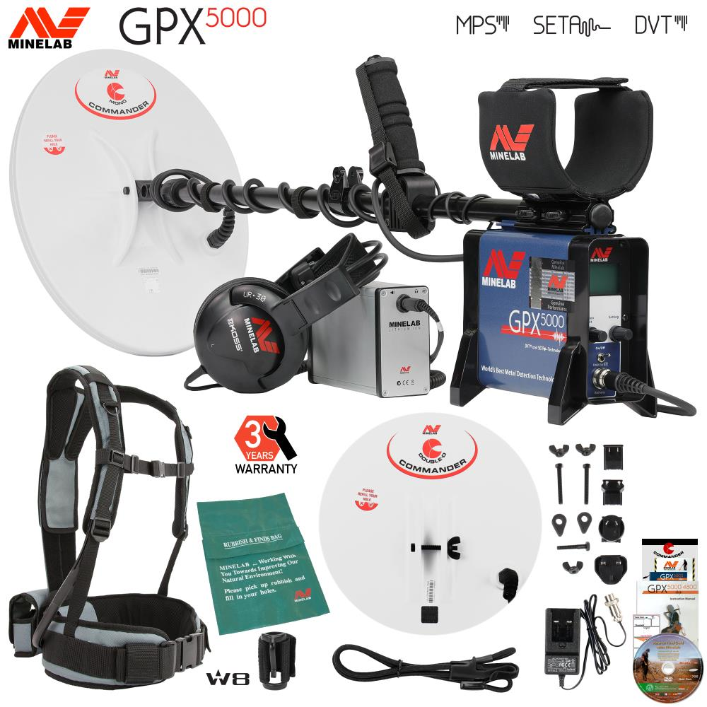Minelab Gpx 5000 Gold Detector Bundle With 2 Search Coils And Extras Network Diagram For Single Site Standard Quicktrac Setup