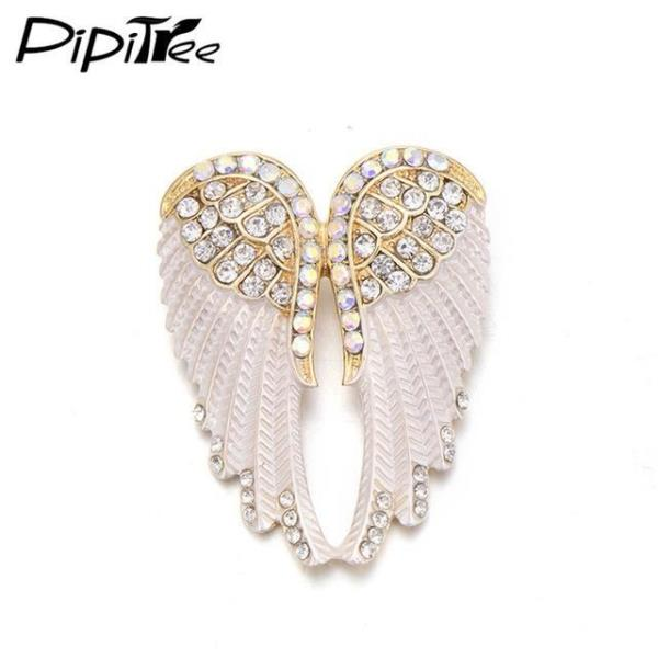 2016 New: Vintage Brooch Christmas Gift: Women Brooch Antique Silver Color:  Angel Wings Brooch Brooches Type: Brooch Pins