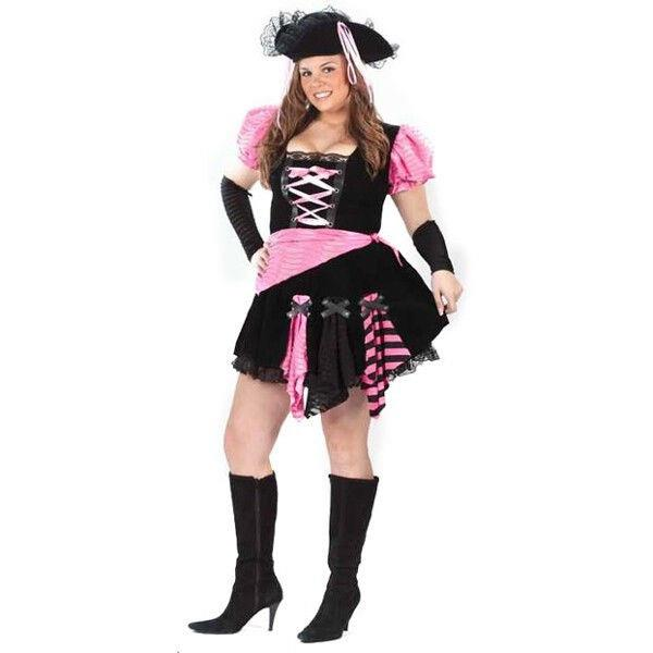 d7ac3128ecb Details about Adult Sexy Plus Size Pink Pirate Costume