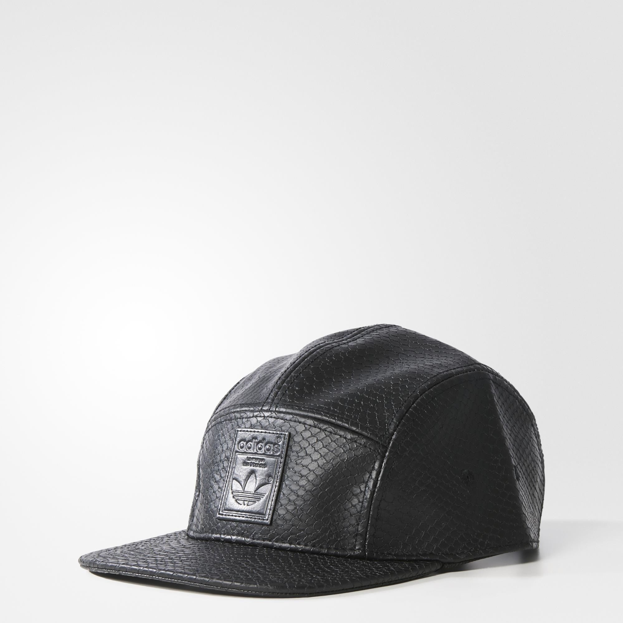 Details about adidas Originals Womens 5 Panel Snakeskin Cap Faux Leather  Black  2d1ba4c9dc