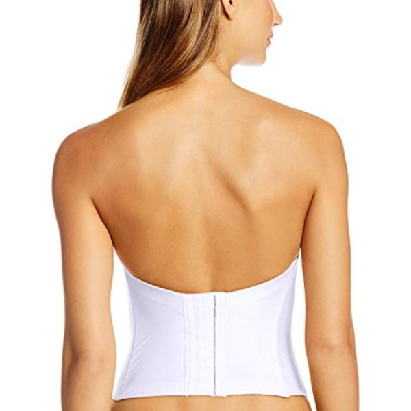 11a1323a058b6 Cushioned boning in the back and sides creates a slimming effect. Wide  covered elastic along back for custom fit. 10 row