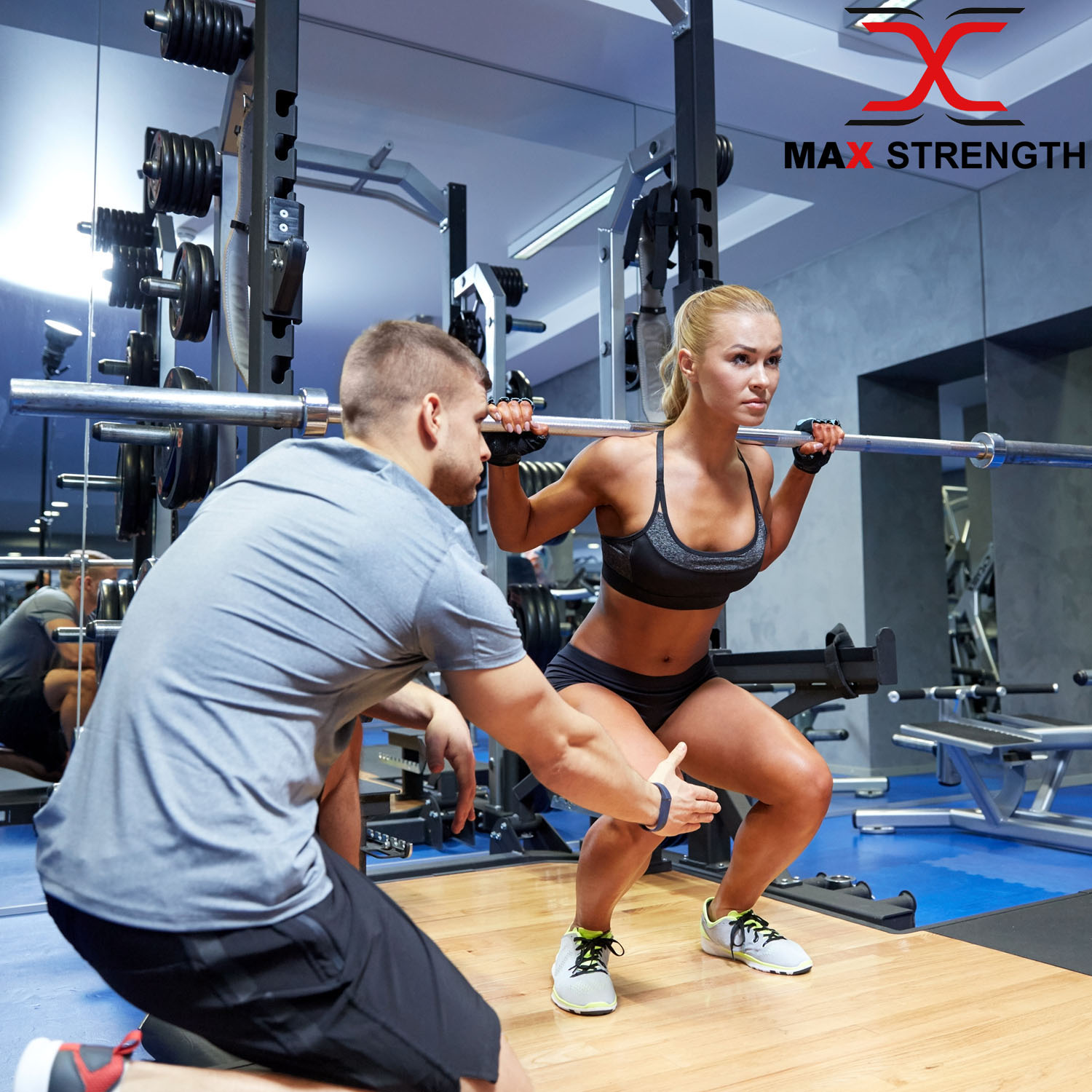 """environ 1.22 m poids levée Gym de formation bars Colliers MAX FORCE 2/"""" Olympic Barbell Bar 4 ft"""