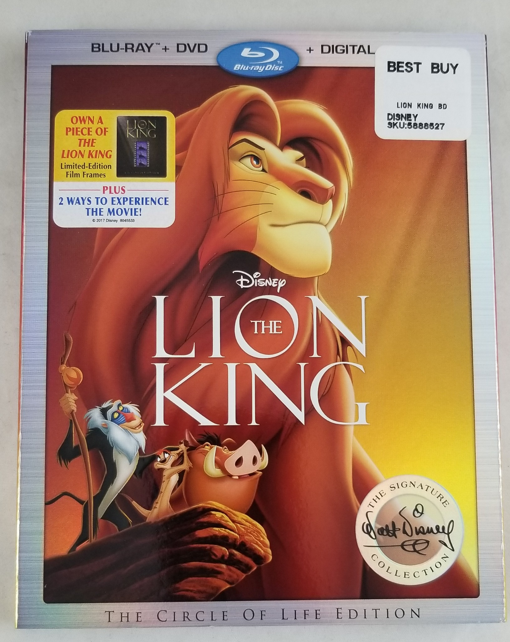 Details about New Disney Lion King Blu-Ray DVD and Digital HD Copy W/ Slip  Cover Sealed