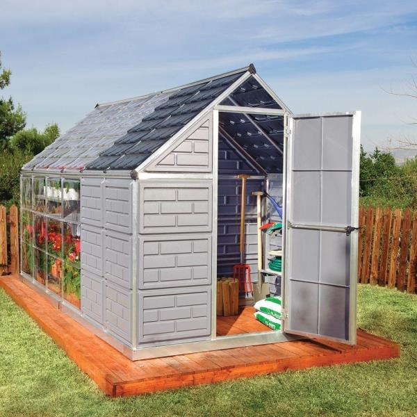 Garden Sheds 6 X 12 palram greenhouse with storage grow and store 6 ft. x 12 ft. | ebay