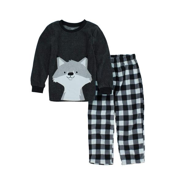 67bc30406 Carter s 2 Piece Long Sleeve Fleece Pajamas for Boys - Fox and Seal ...