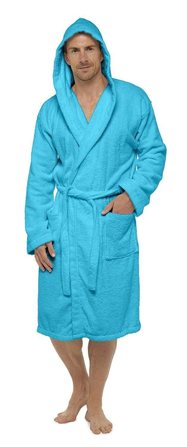 Details about CityComfort Men Towelling Robe 100% Cotton Bathrobe Dressing  Gown Hooded No Hood cc46a5897