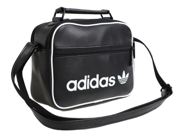 40a693608ac4 Adidas MINI Airline Vintage Cross Bags Black Running Casual GYM Bag ...