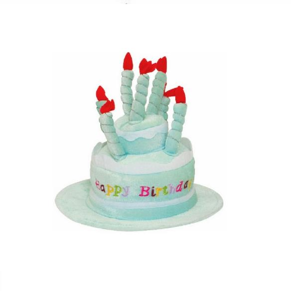 This Adorable Plush Cake Birthday Hat In Light Blue Is Perfect For Celebrations At Work School And Those Milestone Special Days
