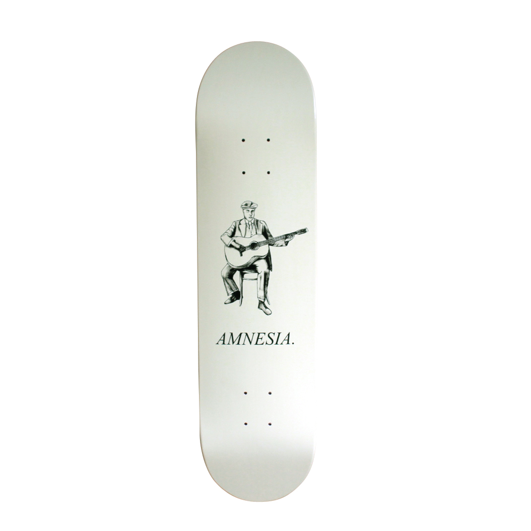Amnesia Skateboards Deck Oh Brother beige free grip and free post