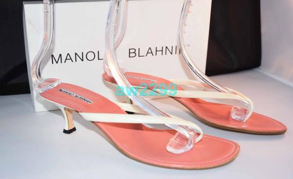 52322280d Details about MANOLO BLAKNIK AUTHENTIC RARE SLIPPERS SHOES HEELS FLIP FLOPS  42 OFF WHITE NEW