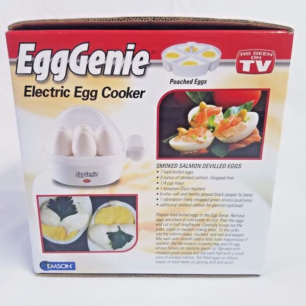 Emson White Egggenie Electric Egg Cooker Ebay