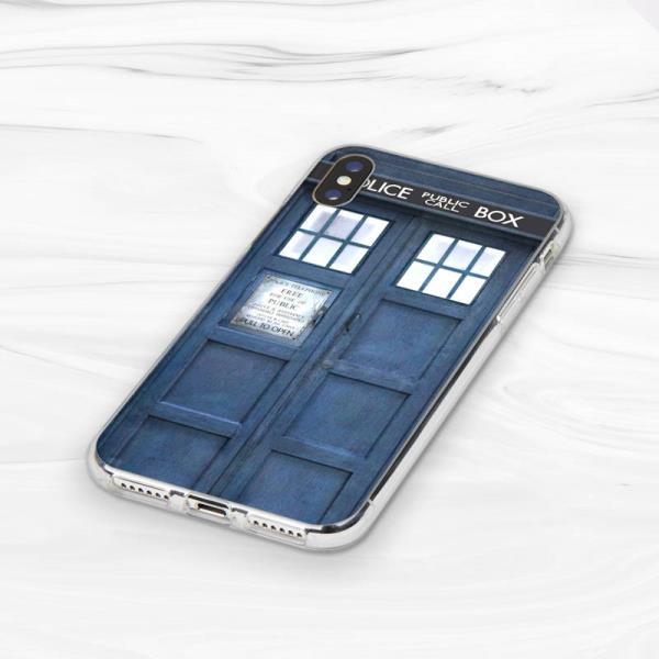 Phone Bags & Cases For Iphone X Xr Xs Max 4 4s 5 5s 5c Se 6 6s 7 8 Plus Doctor Dr Who Police Box Soft Case Silicone Half-wrapped Case