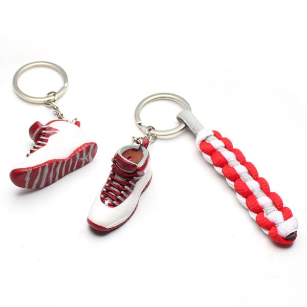 7f4fa8a6c2ddcb 3D Mini Sneaker Shoes Keychain Chicago Keyring With Strings for Air ...