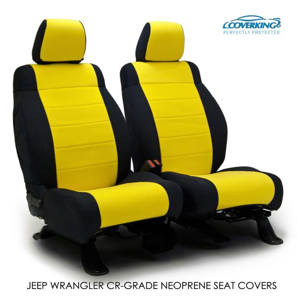Admirable Details About 2015 Jeep Wrangler Jk Genuine Neoprene Yellow Seat Covers By Coverking Machost Co Dining Chair Design Ideas Machostcouk