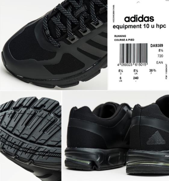 online store 9e0b6 31161 Adidas Men Equipment 10 Haptic Shoes Running Black Training Sneakers ...