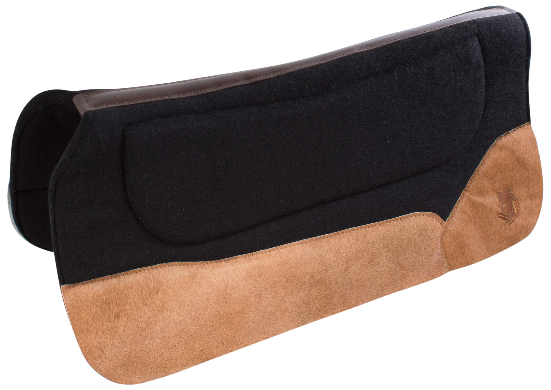 used western wool saddle pad 1 thick contoured therapeutic leather rh ebay com