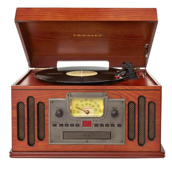 Crosley Entertainment Center AM/FM Radio CD Player Turntable Vintage Retro  Style