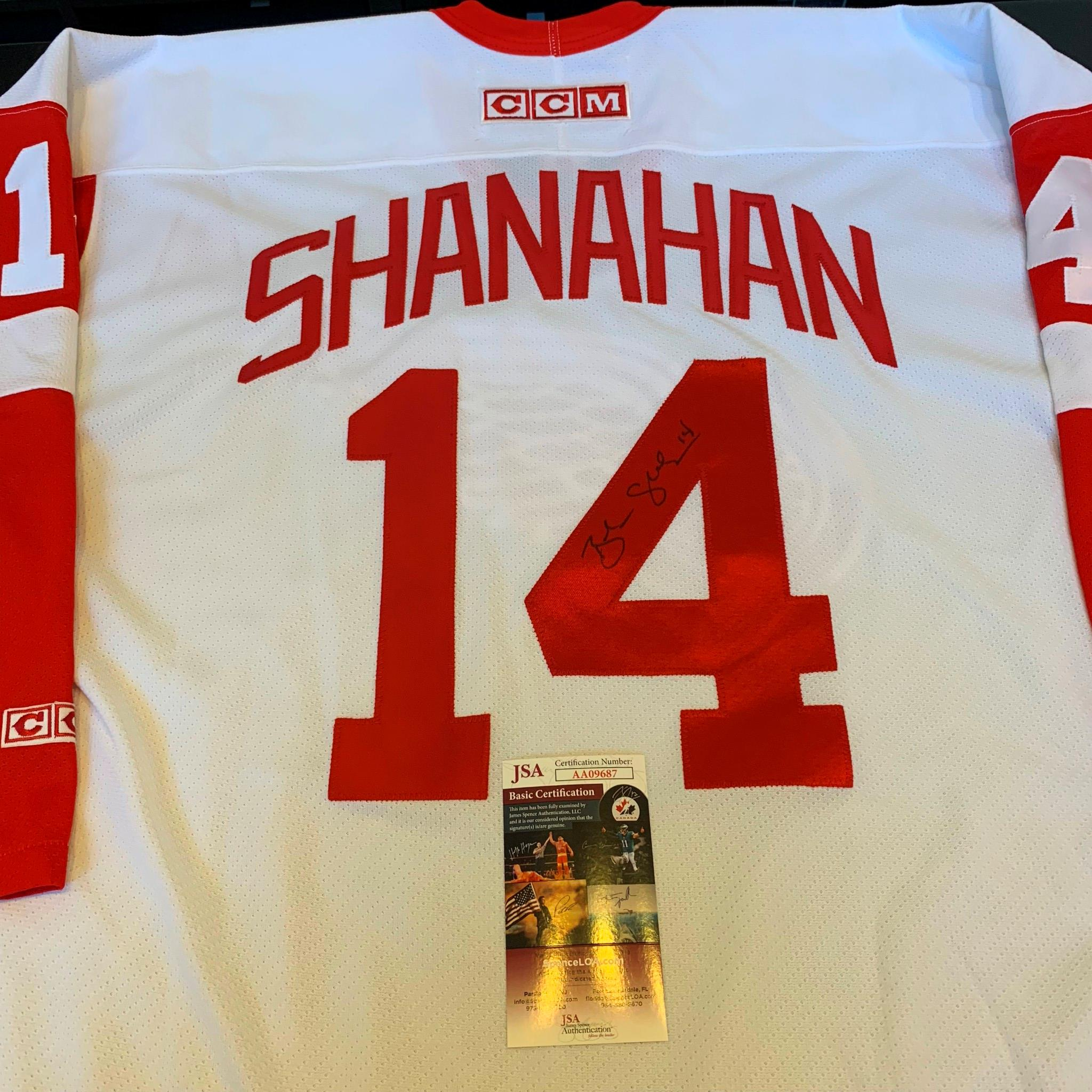 detailed look 8f640 29b33 Details about Brendan Shanahan Signed Authentic Game Model CCM Detroit Red  Wings Jersey JSA