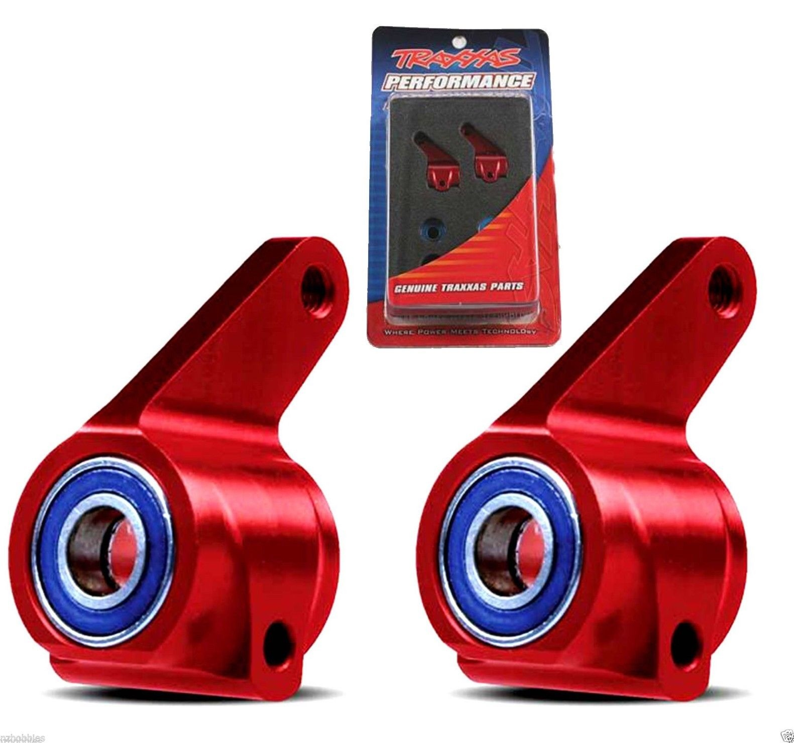 1pr Traxxas Red Anodized 6061-T6 Aluminum Steering Blocks TRA3636X
