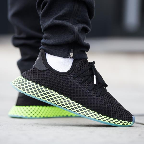 cheaper 67d57 c6bf1 Adidas Deerupt Runner Sneakers Core Black Size 8-12 Mens NMD Boost Y-3  Ultra New