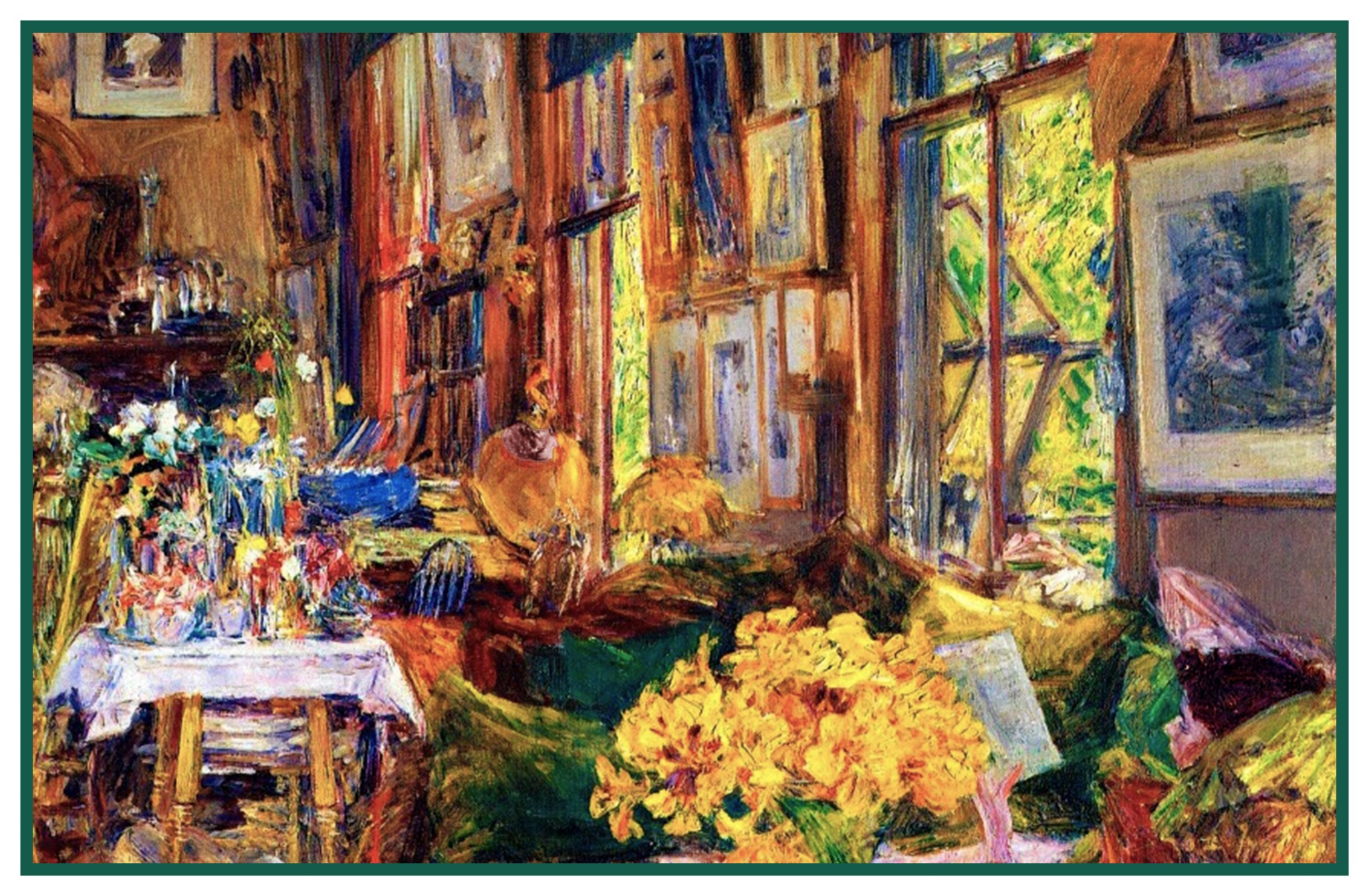 ImpressionistChilde Hassam Room of Flowers Counted Cross