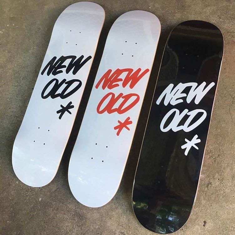 NewOld Skateboards Deck New Old free grip and post