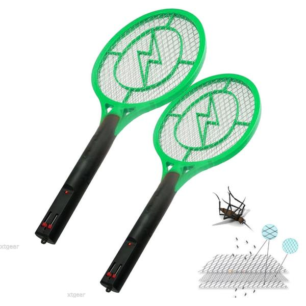 Details about Lot 2 Rechargeable HandHeld Bug Zapper Insect Fly Swatter  Racket Mosquito Killer