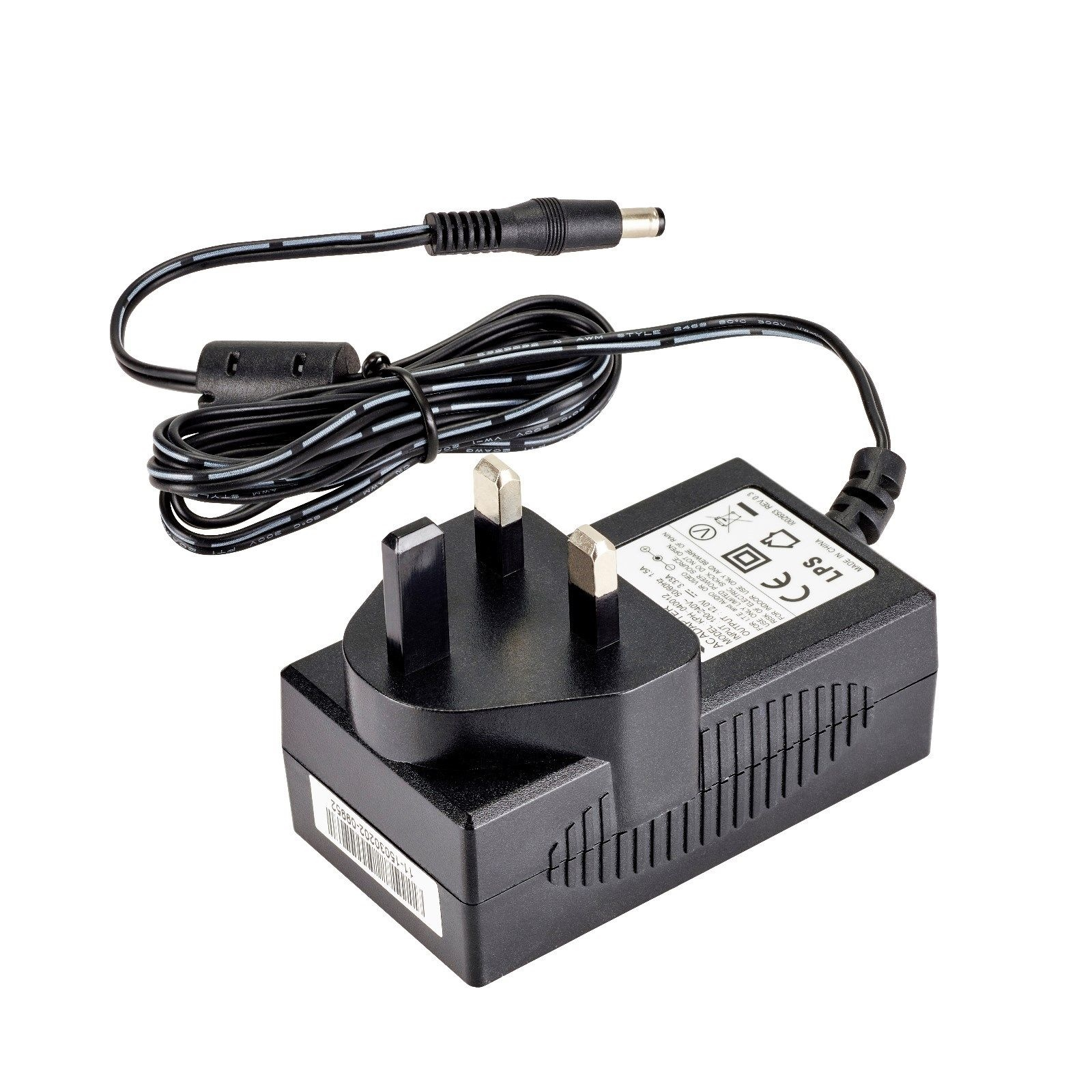 Details about 12V 3A Mains AC-DC Adaptor Power Supply for Bush Models C19ZF  C22ZF TV