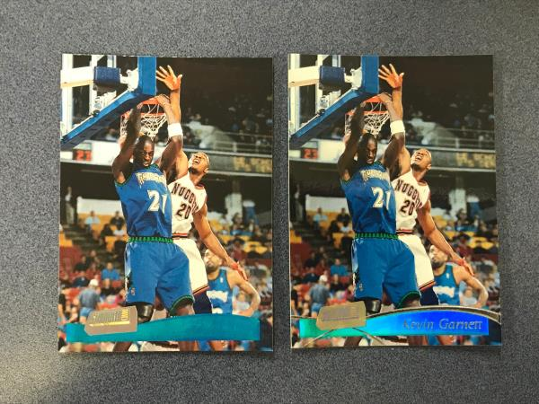 2 Card 1997 98 Stadium Club Kevin Garnett Base Error