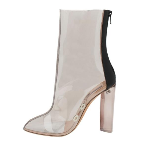 1c166aff4f YEEZY SEASON 3 PVC ANKLE BOOTS PVC CLEAR SIZE 38 US 8 UK 5 KIM ...