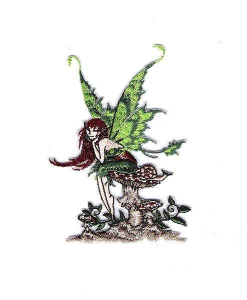 Amy Brown/'s Little Red Mischief Fairy Embroidered Patch NEW UNUSED