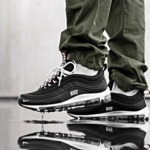 check out c36d5 a81ae Details about Nike Air Max 97 Premium Black White Size 7 8 9 10 11 12 13  Mens Shoes 312834-008