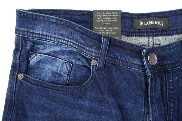 BLANKNYC FADED DARK BLUE 33 SLIM FIT WOOSTER JEANS MENS NWT NEW