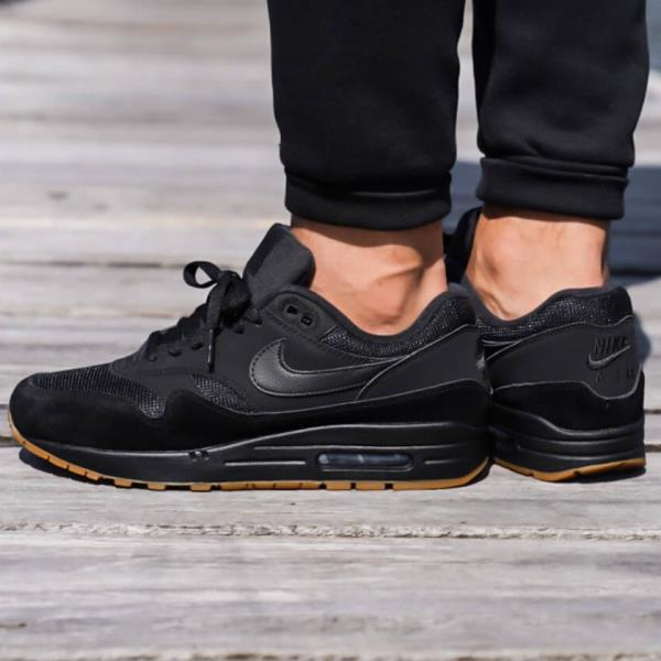 603759c103 Nike Air Max 1 Trainer Sneakers Black Size 8 9 10 11 12 Mens Shoes New