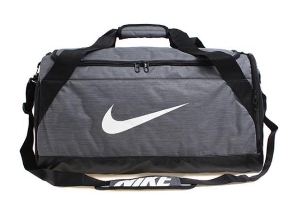 Nike BRASILIA Medium Bags Gray Running Sports Duffel Bag GYM Sacks ... 9cdcda056fd9b