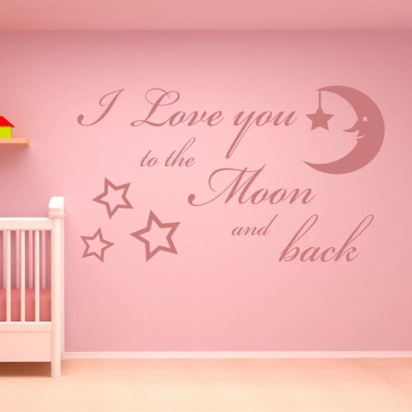 I Love You To The Moon And Back Wall Art i love you to the moon and back wall art sticker decal kids