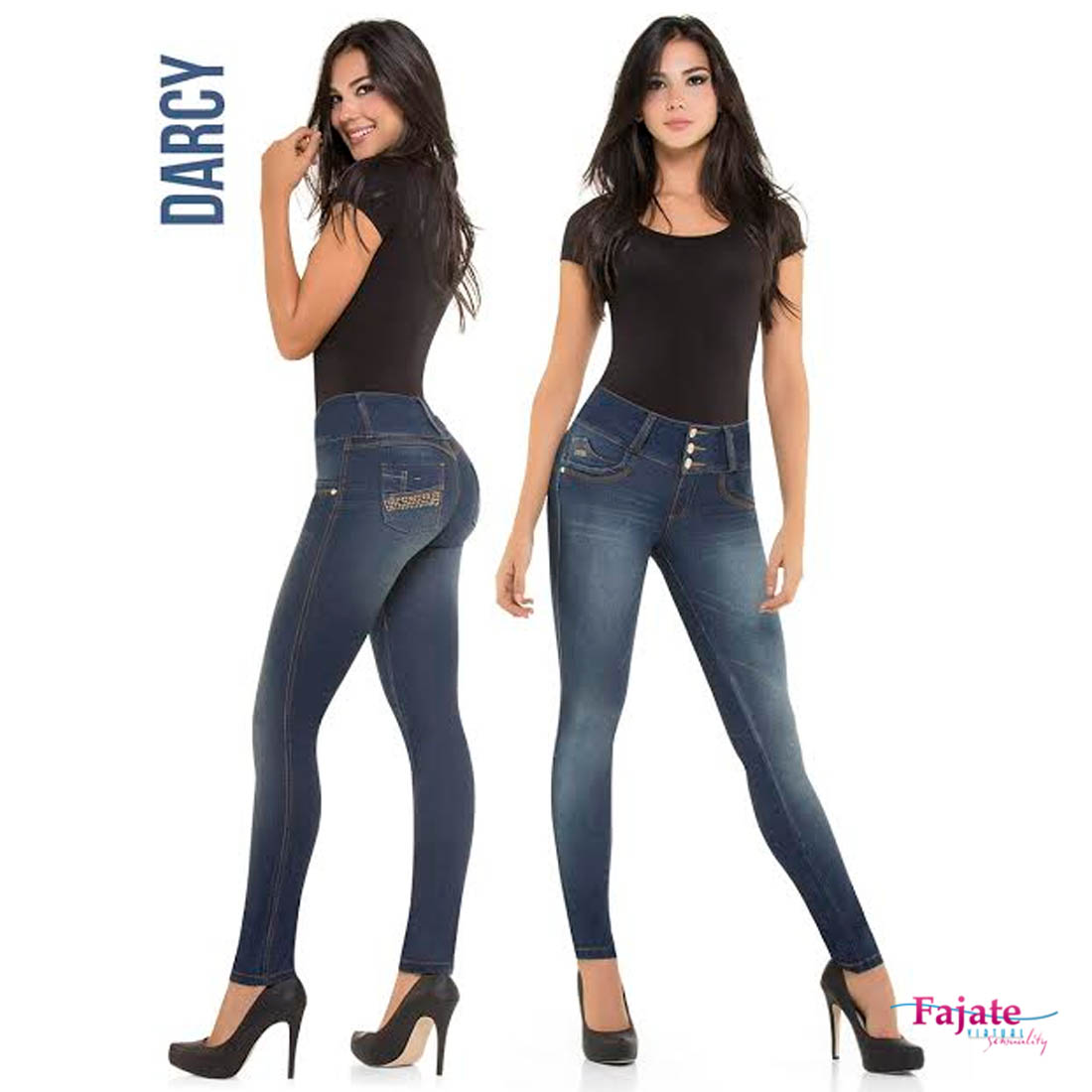 Levanta Cola Colombian Push Up Jeans High Rise Waistband ...