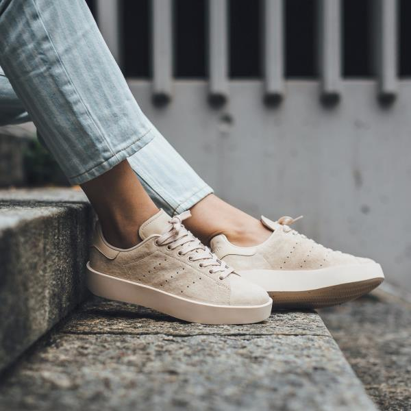 brand new 3e701 13bfc Details about Adidas STAN SMITH BOLD W Linen Size 5 8 9 Women Shoes CG3773