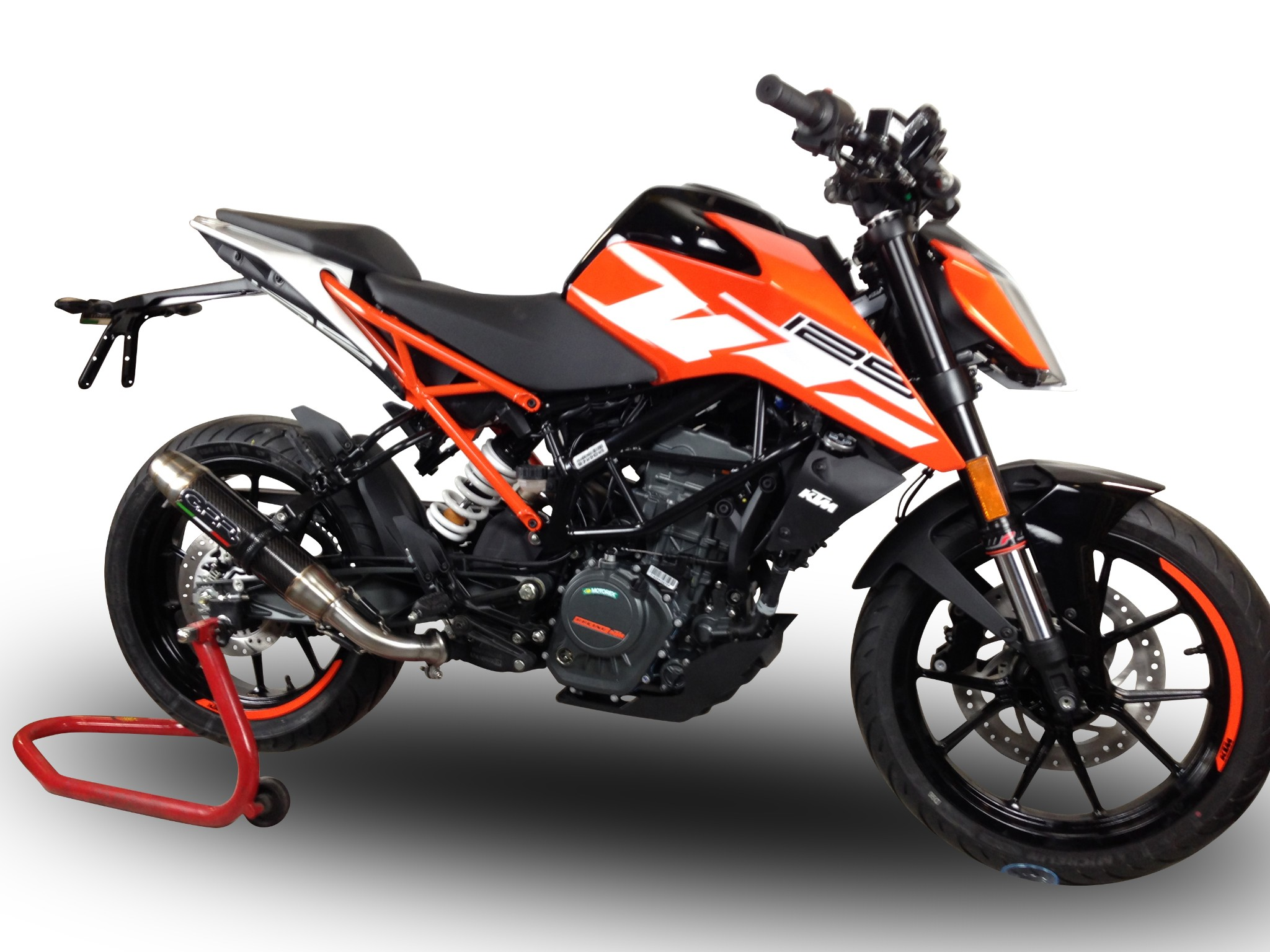 ktm duke 125 2017 2018 gpr exhaust slip on silencer deeptone cf new ebay. Black Bedroom Furniture Sets. Home Design Ideas
