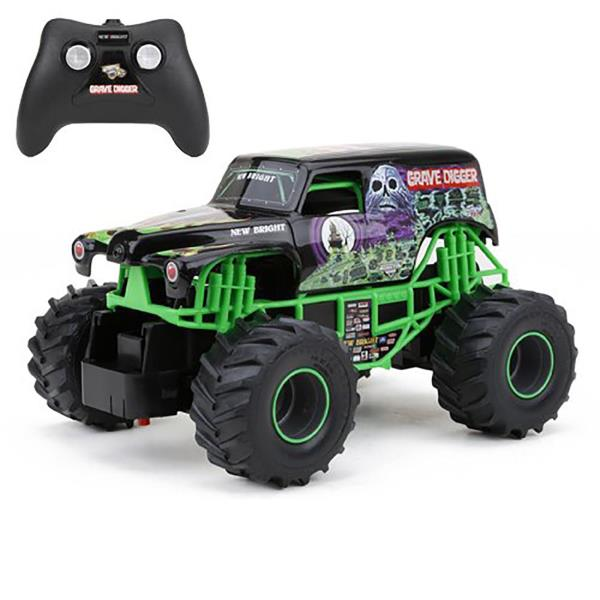 Grave Digger Rc Remote Control Monster Truck Jam Toy Racing Car
