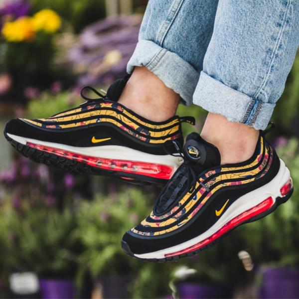 Details about Nike Air Max 97 Floral Black Size 6 7 8 9 Womens Shoes Force Vapor React Flyknit