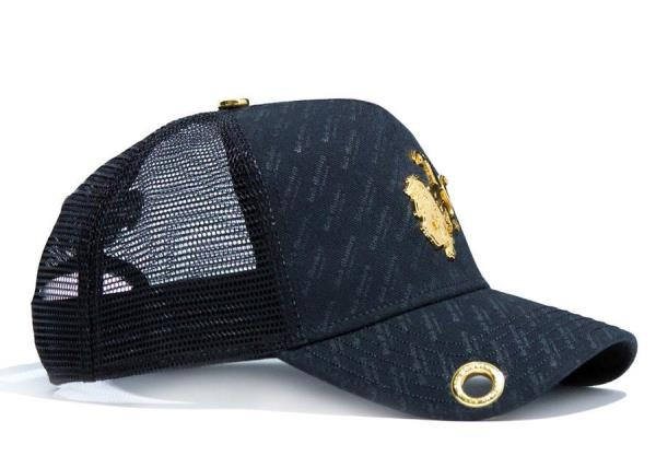 c38db1a5425 Red Monkey Big Monkey Repeat 18k Gold Black Snapback Cap Hat RM1220 ...