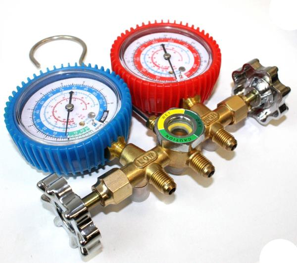 how to read ac manifold gauges r134a