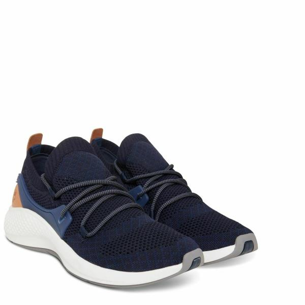 Dettagli su Timberland A1QAO FlyRoam Go Knit Mens Canvas Low Sneakers Navy Blue Size