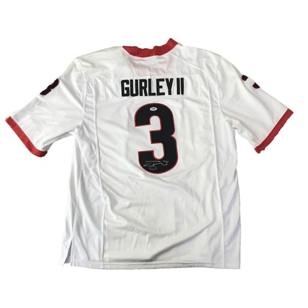wholesale dealer e2cf8 f2cf2 Details about Todd Gurley signed jersey PSA/DNA Georgia Bulldogs  Autographed NCAA white