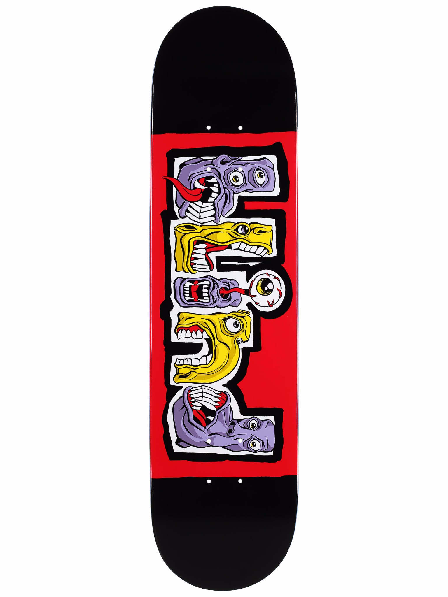 Blind Skateboard Deck Hungry Black Red 7.75 FREE GRIP