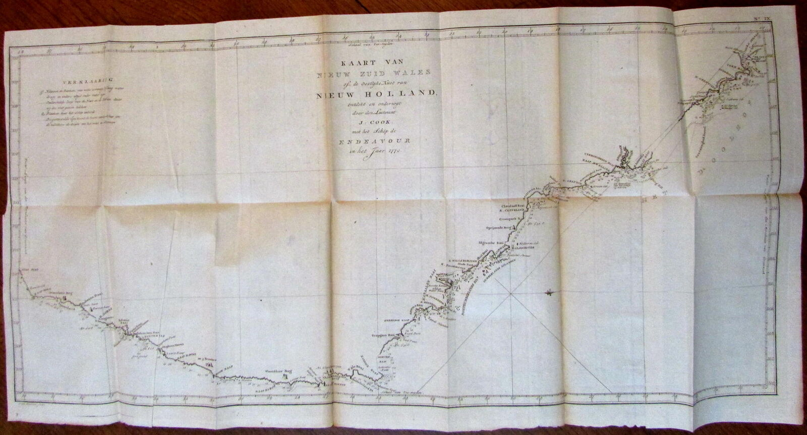 Map Of Australia 1770.Australia New South Wales 1770 Capt Cook 1798 Baarsel Large Old