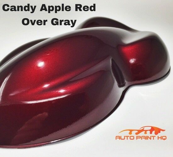Details About Candy Apple Red Over Gray Basecoat Quart Car Vehicle Motorcycle Auto Paint Kit