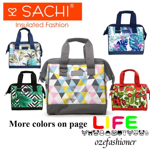 big sale clearance sale classic styles Details about SACHI INSULATED LUNCH BAG Tote Storage Container Carry Strap  10 DESIGNS IS